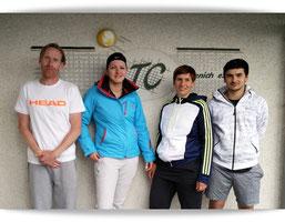 Finalteilnehmer Mixed: (v.l.n.r.) S. Figgemeier, M. Süßmilch, U. Schächer, J. Franken
