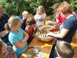Kindergruppe in Morsbach um Lisa Bauer (Foto: C. Buchen).