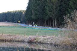 Amphibienzaun in Marienheide (hu)