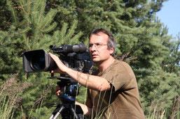 Forscher und Filmer Koerner im Einsatz