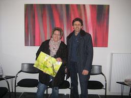 Frau Halbach und NABU Schatzmeister Hillen nach dem Notartermin (rh)