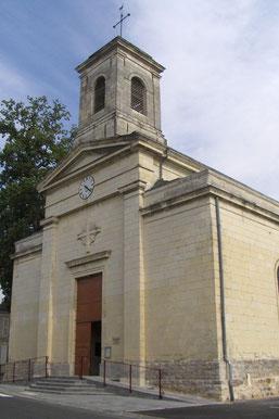 Façade principale de l'église Saint-Maurille