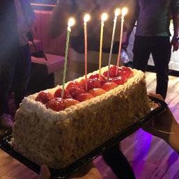 ガバナ13周年記念パーティーのケーキ写真