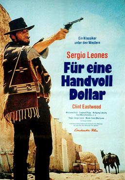 """""""Für eine Handvoll Dollar"""" mit Clint Eastwood auf dem Cover"""