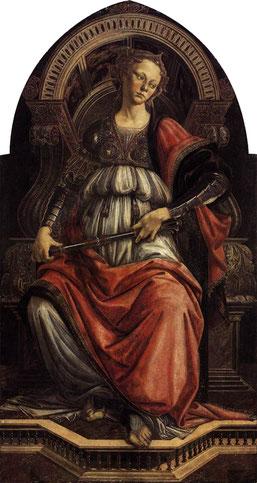 Allégorie de La Force, Sandro Botticelli, Musée des Offices, Florence