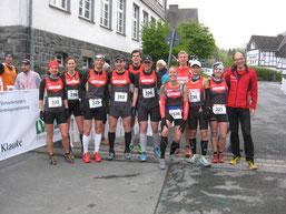Thomas mit den anderen deutschen Starten beim ITC in Bödefeld