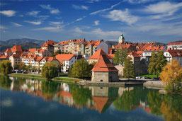 Maribor, einst die bedeutendste Industriestadt Sloweniens