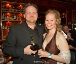 Scott and Delaine with 2008 DMA awards (photo M. Hacala)
