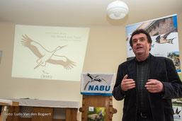 Grußworte von Bernd Heinitz, Vorsitzender des NABU Sachsen. Foto: Ludo Van den Bogaerd