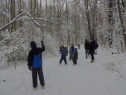 Winterwanderung statt Amphibienexkursion. Fotos: Mario Vormbaum