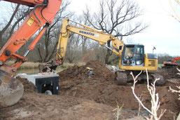 """Im Rahmen des Projekts """"Lebendige Luppe"""" konnte der NABU das Einlassbauwerk für die Bewässerung der Papitzer Lachen erneuern. Foto: Philipp Steuer"""