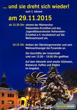 29.11.2015 Pyramidenanschieben Hohenstein-Ernstthal 1.Advent