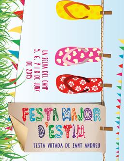 Cartel y programa de la Festa Major d'Estiu a La Selva del Camp 2015