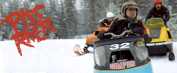 PISS RIVER - riding on a Snowmobile