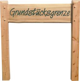 Gampinglatz Holzschilder