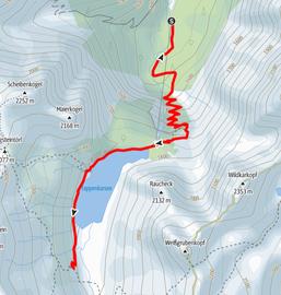 Route zum Tappenkarsee, zur Tappenkarseealm und zur Tappenkarseehütte