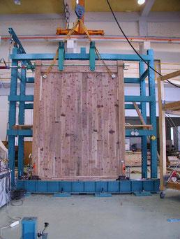 2004年 CLTによる壁試験(熊本県立大学)