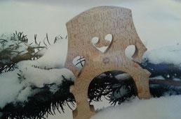 Chevalet sous la neige
