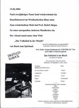 Veranstaltungen im Gösselsaal Weisb. Haus, Plakate