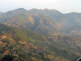 im Anflug auf Kathmandu