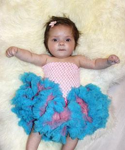 Neugeborenen Baby Mädchen Sitter Kleinkind Outfit Set Oberteil Top Shirt Häkeltop sehr dehnbar viele Farben, Hose Rock