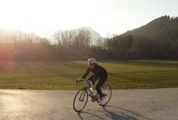 Babsi on Bike