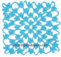 Cómo tejer el punto cuadrado crochet