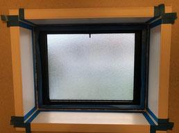 浴室窓シリコン交換工事