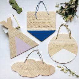 Pancarte en bois massif personnalisable