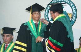 El senador de Espaillat, Doctor José Rafael Vargas, recibió el título de Doctor Honoris Causa de la Universidad Tecnológica de Santiago (UTESA)