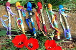 examples of decorated drumsticks available from Shaman Drums And More