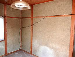 施工前の繊維壁