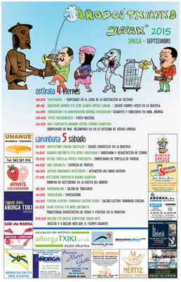 Fiestas de Añorga Txiki 2015 Cartel y Programa