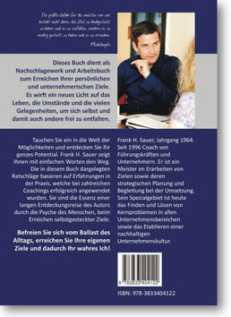 Handbuch für das Erreichen Ihrer persönlichen Ziele - Rückseite Klappentext