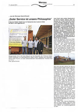 Wernauer Anzeiger – 17. Januar 2014