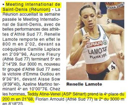 LA REP 27/04/2015 : Athlétisme