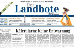 Landbote 23.07.12 Titelblatt