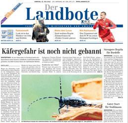 Landbote 21.07.12 Titelblatt