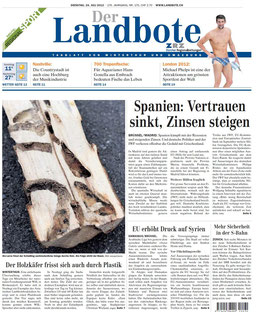 Landbote 24.07.12 Titelblatt