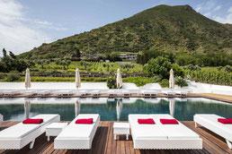 Capofaro Malvasia Resort Terasse