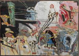 "Peter Sengl  "" Lob des Karos"", 1993  75x60cm"