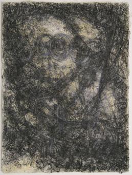 """Markus A. Huber,  """"o.T."""" , 2001 Mischtechnik /Nepalbütten, 50x70cm"""