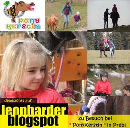Leonharder Blogspot besucht Ponykerstin