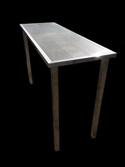 mesa para planchar en acero inoxidable