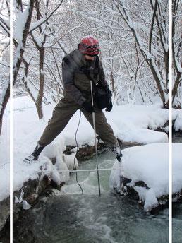 Olivia Ortner, Fischpassüberprüfung, Fischaufstiegshilfe, Reswassermessen, Ischler Ache