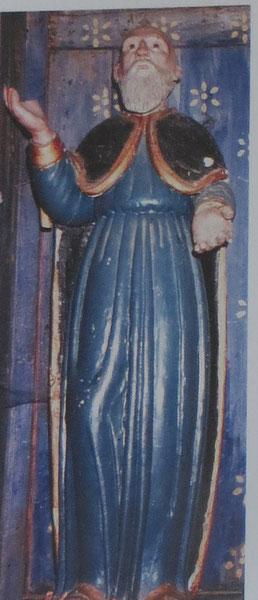 Santo Pietro di Venaco- statue en bois de Sant'Eliseu (cl. Corsica Sacra)