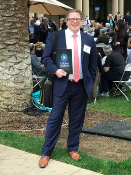Oliver Allesch am Rande der CODEX Future Law Conference (Stanford University)