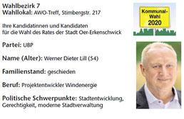 UBP-Kandidat im Wahlbezirk 7