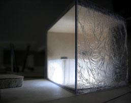 Pavillion mit Wasserwand: Visualisierung mit Model 1:100