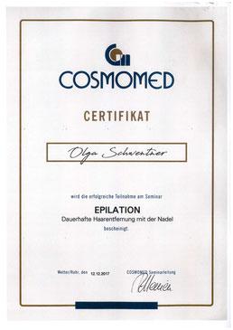 Zertifikat Olga Schwentner